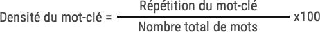 densite formule