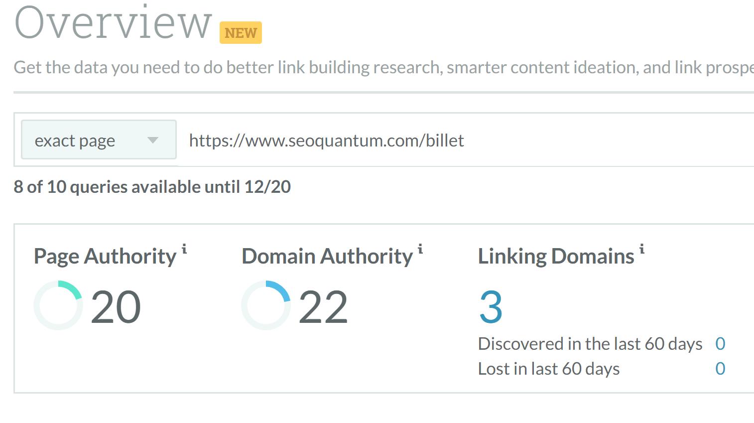 aa1efd6e4ab Découvrez l autorité de domaine de votre site en téléchargeant  (gratuitement) MozBar pour navigateur. Vous pouvez aussi entrer l adresse  de votre site sur ...