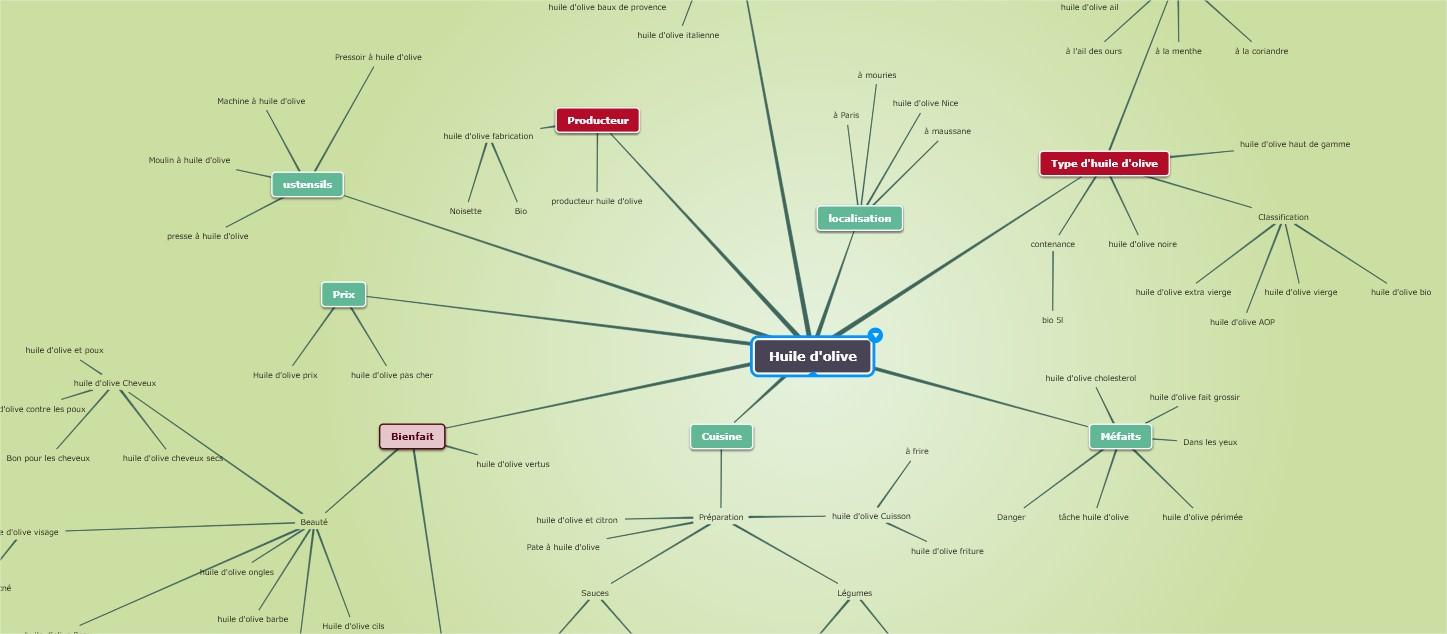 Exemple mindmap mot clé